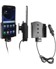 Brodit držák do auta na Samsung Galaxy S7 Edge bez pouzdra, s nabíjením z cig. zapalovače/USB