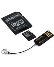 KINGSTON 16GB Micro SD Class 10, Multikit - čtečka, adaptér, flash card