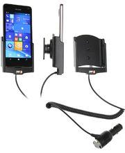 Brodit držák do auta na Microsoft Lumia 650 bez pouzdra, s nabíjením z cig. zapalovače
